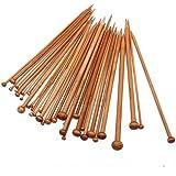 Single Pointed Carbonized Bamboo Crochet Hooks Needles for Weave Knitting (Set of 36)