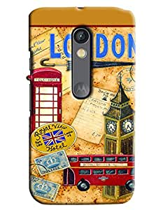 Clarks Printed Designer Back Cover For Moto X Play