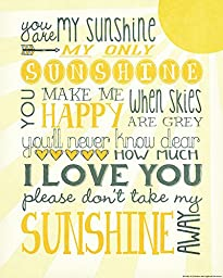 Heritage 1093 You Are My Sunshine Wall Decor, 14 x 11-Inch