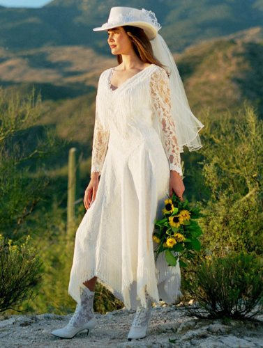 Wedding dress martin mccrea sonoran star western for Amazon cheap wedding dresses