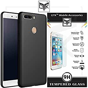 Honor 8 Pro Tempered Glass + Back Cover - TheGiftKart HD Tempered Glass + Ultra Premium Smooth Matte Finish Soft Back Cover (Black)