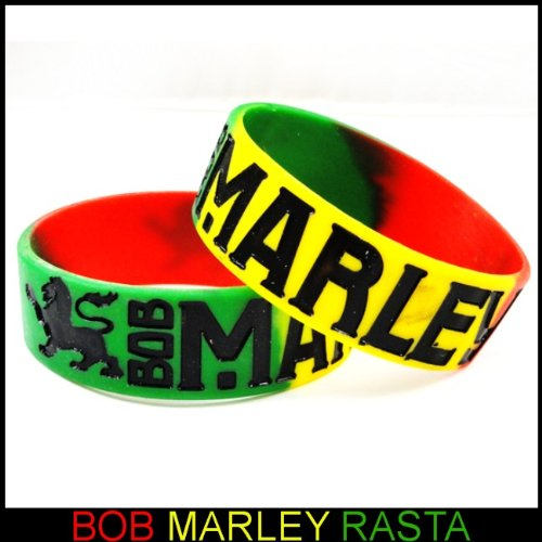 Bob Marley Rasta Color Designer Rubber Saying