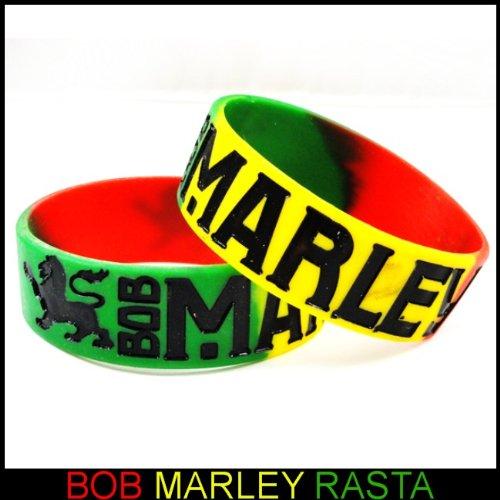 Bob Marley Rasta Color Designer Rubber Saying