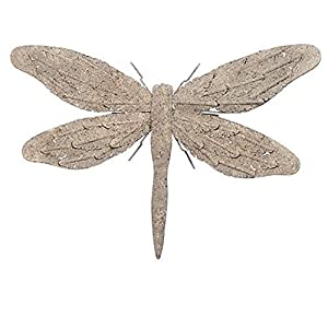 Sandstone Effect Metal Dragonfly Garden Wall Art Feature by Gardens2you