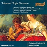 Telemann: Triple Concertos: in Bb for 3 Oboes & 3 Violins; in A for Flute, Violin & Cello; in F for 3 Violins; in E for Flute, Oboe d'Amoure & Viola d'Amoure (1995) Audio CD