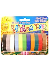Rainbow Tape Crepe Paper Tape Packs wide roll pack