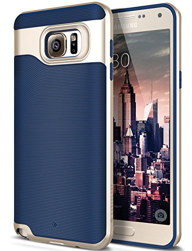 Galaxy Note 5 Case, Caseology [Wavelength Series] Textured Pattern Grip Cover [Navy Blue] [Shock Proof] for Samsung Galaxy Note 5 - Navy Blue (Nv Phone Case compare prices)
