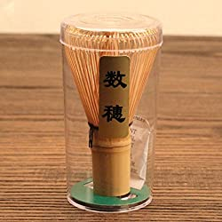 Bamboo Chasen Matcha Powder Whisk Tool Japanese Tea Ceremony Accessory 4 Kinds - Brown, 60-70Prongs