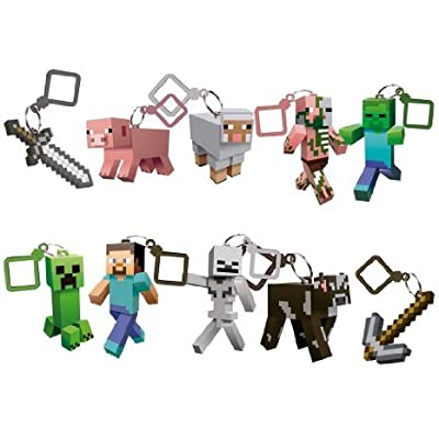 J!nx Minecraft Toy Action Figure Hangers Series 1 Set of 10 Pieces with Steve by Great Deal