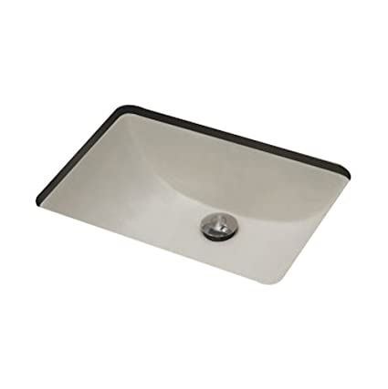 "Jade Bath JB-18095 20.75"" W x 14.35"" D CSA Certified Rectangle Undermount Sink, Biscuit"
