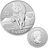 2013 Canadian $20 for $20 Fine Silver Coin-Wolf