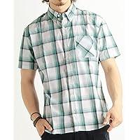 (バレッタ) Valletta 6color ブロードベーシックチェック柄半袖シャツ