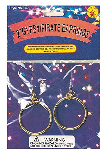 Pirate or Gypsy Costume Clip-on Earrings