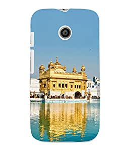 Fuson 3D Printed Golden Temple Amritsar Wallpaper Designer Back Case Cover for Motorola Moto E - D845