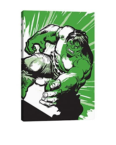 Hulk Minimalistic Poster Gallery-Wrapped Canvas Print
