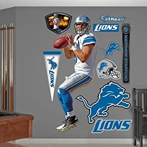 NFL Detroit Lions Matthew Stafford Away Wall Graphics by Fathead