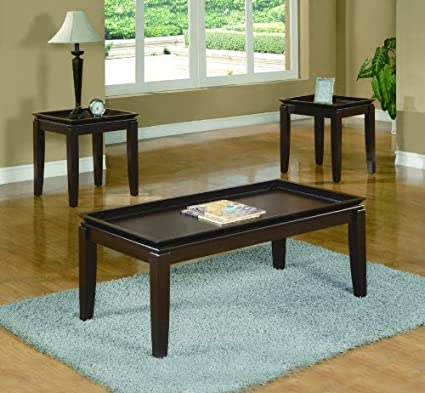 Calla 3pc Coffee Table Set by Crown Mark