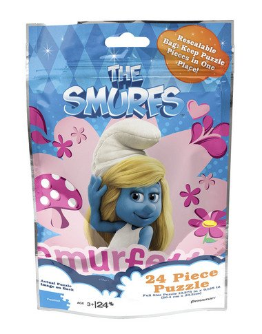 Pressman Toy The Smurfs 24 Piece Puzzle (Smurfette withHearts & Flowers)