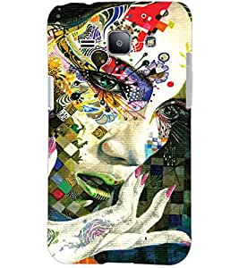 PrintDhaba COLOURFUL FACE D-6776 Back Case Cover for SAMSUNG GALAXY J1 (Multi-Coloured)