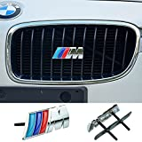 COGEEK 3D Metal Sport ///M Front Hood Grill Grille Badge Emblem Stickers Screws Car Styling Accessories for BMW M3 M5 X1 X5 X6 E39 E60