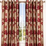 ScatterBox 169 x 229 cm Wisteria Curtains, Red/ Chocolate