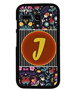 PrintVisa Metal Printed Alphabet Designer Back Case Cover for Motorola Moto G (1st Gen)-D4793