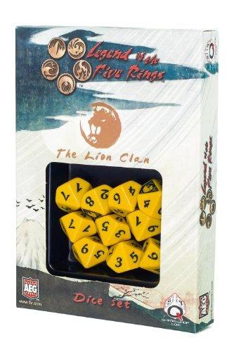 L5R: Lion Clan Dice Set (10 Stuck - W10) Board Game