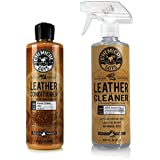 Chemical Guys SPI10916 Leather Cleaner and Conditioner Complete Leather Care Kit - 16 oz. (2 Items)