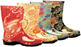 Slogger Rain Boots in Floral or Paisley Black Blue Red Yellow