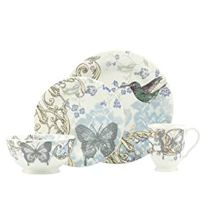 Lenox 4-Piece Collage Hummingbird Dinner Set at Sears.com
