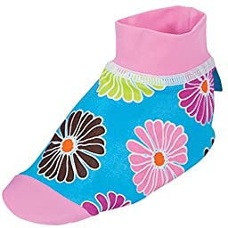 Sun Smarties Baby Girls UPF 50+ Non-Skid Sand and Water Socks Small Floral