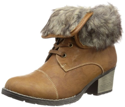 Rieker Womens 92520 Boots Brown Braun (nuss/grey-brown 22) Size: 7 (41 EU)