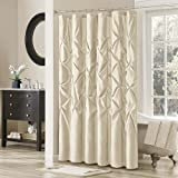Laurel Polyester Shower Curtain Color: Ivory