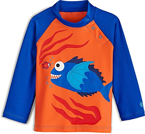 Coolibar upf 50 baby rash guard sun protective 6 for Baby rash guard shirt
