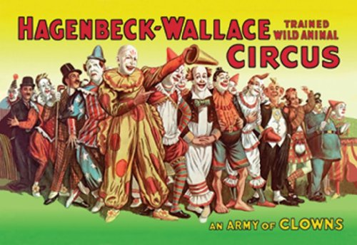 An Army Of Clowns - Hagenbeck-Wallace Trained Wild Animal Circus, 12X18 Canvas Giclée, Gallery Wrap front-1074180