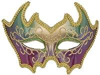 Forum Deluxe Mardi Gras 1/2 Face Mask by Forum Novelties