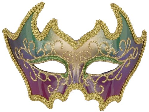 Forum Deluxe Mardi Gras 1/2 Face Mask