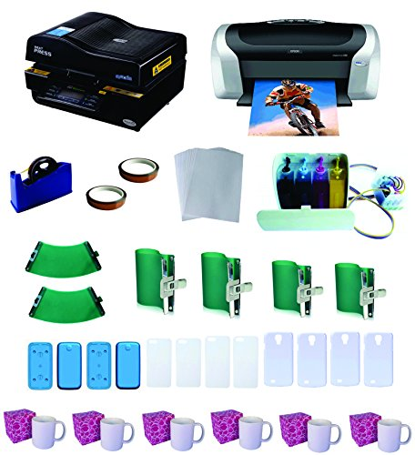 3D Pro Sublimation Heat Press Machine Epson Printer C88 CISS KIT (3d Printer Press compare prices)