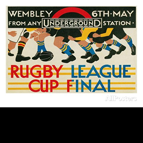 20X30 Inch Decorative Poster Rugby League Cup Final at Wembley Posters