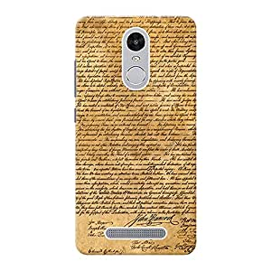 Mobile Back Cover For Xiaomi Redmi Note 3 (Printed Designer Case)