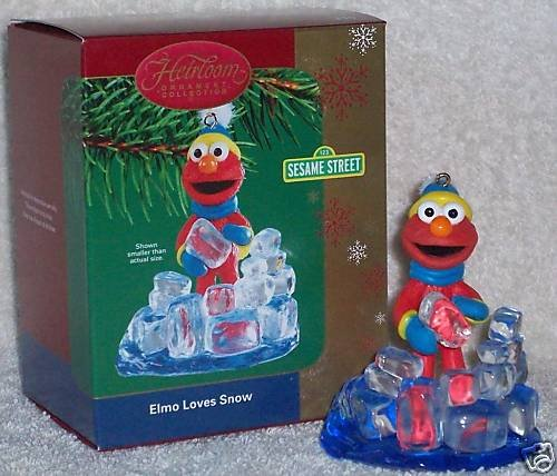 Sesame Street – Elmo Loves Snow 2004 Carlton Cards Christmas Ornament
