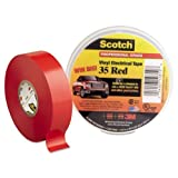 3M-Commercial Tape Div 10810 Scotch 35 Vinyl Electrical Color Coding Tape, Red - 0.75 in. x 66 ft. (Color: Red, Tamaño: 3/4