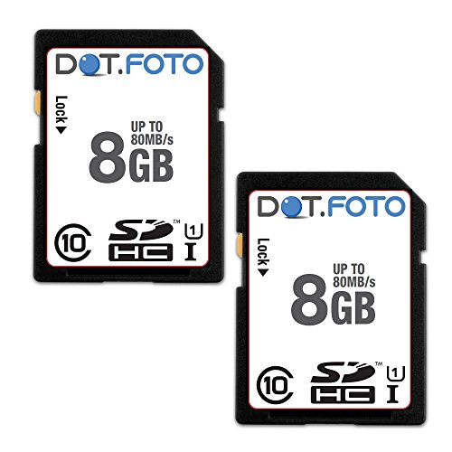 2 x Dot.Foto Extreme SDHC 8Gb Class 10 UHS-1 (bis 80MB/s Lesen) Speicherkarte für SilverCrest DS-1020T | DS-1220T | DV-1000HD | DV-5000HD | DV-5100HD | DV-5200HD | DV-5300HD | SCA 5.00 A1 / A2 | SCAW 5.00 A1 / B2 | SCAZ 5.00 A1