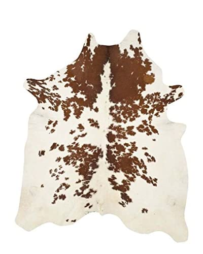 Safavieh Cow Hide Rug, Brown/White, 4' 6 x 6' 6