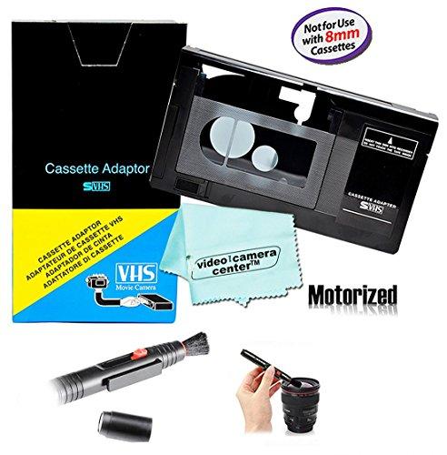 Fantastic Deal! Motorized VHS-C Cassette Adapter For JVC C-P7U CP6BKU C-P6U,Panasonic PV-P1,RCA VCA115 + LensPen Lens Cleaner + 1 VCC113 Micro-Fiber ClothTM