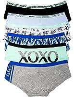 XOXO Juniors 3 or 6 Pack Cotton Boy Short Panties in Fun Prints