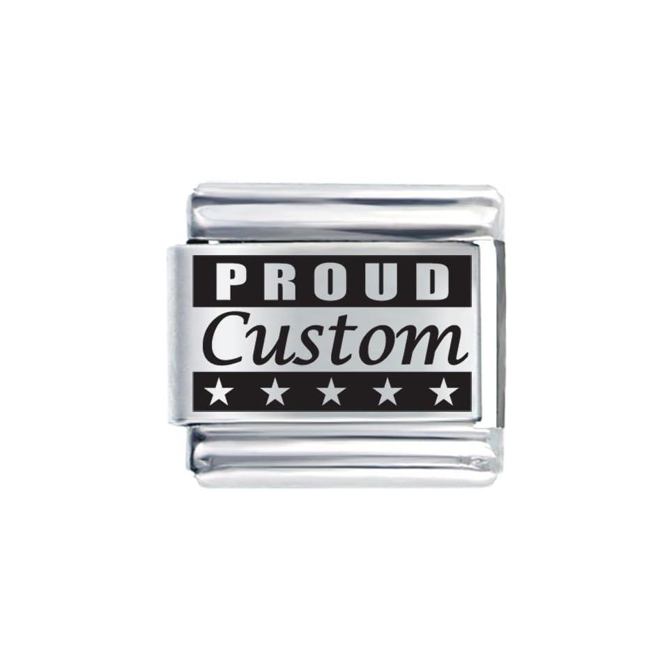 Pugster Proud Custom Laser Italian Charms Bracelet Link