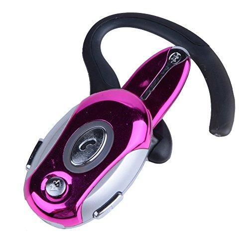 Business Handsfree Earphone Wireless Bluetooth Headset For Cell Phone Samsung Htc Motorola Pink