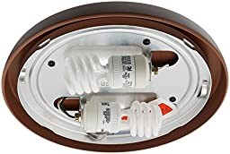 Casablanca Fan Company 99255 CFL Low Profile Fitter, Brushed Cocoa
