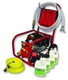 Home Firefighting HF-S14FC-100G-BK Pool Fire Pump Cart System with 1-Inch Fire Hose and 15 gpm Barricade II Gel System